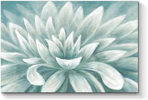 Abstract Flower Picture Wall Art Blossom Painting Floral Artwork Hand Painted on Canvas for Bathroom 36 x 24 x 1 Panel