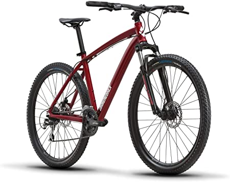side facing diamondback bicycles overdrive 27.5 hardtail mountain bike