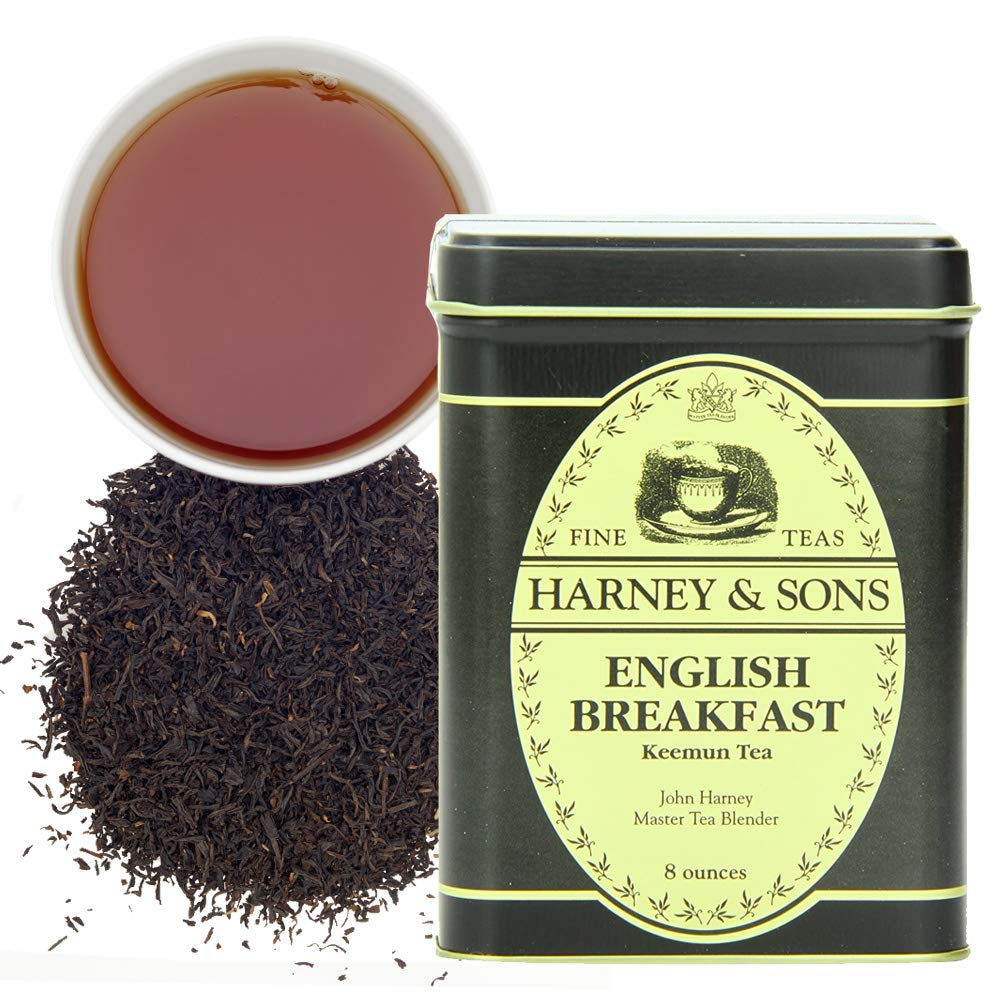 Harney & Sons English Breakfast Black Tea, Loose leaf tea in 8 Ounce tin