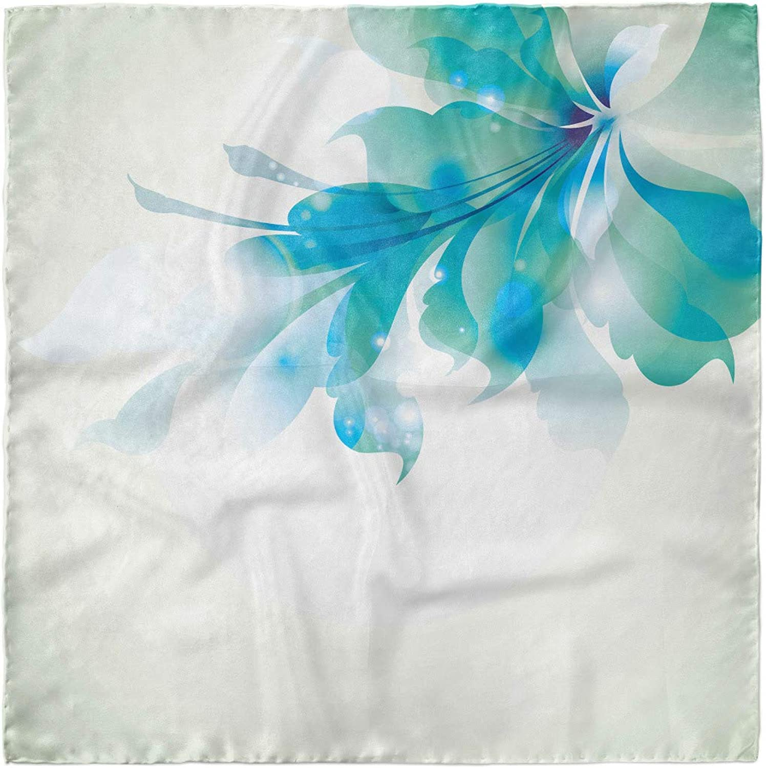 Ambesonne Abstract Hairscarf Blue Ombre Flowers Head Wrap