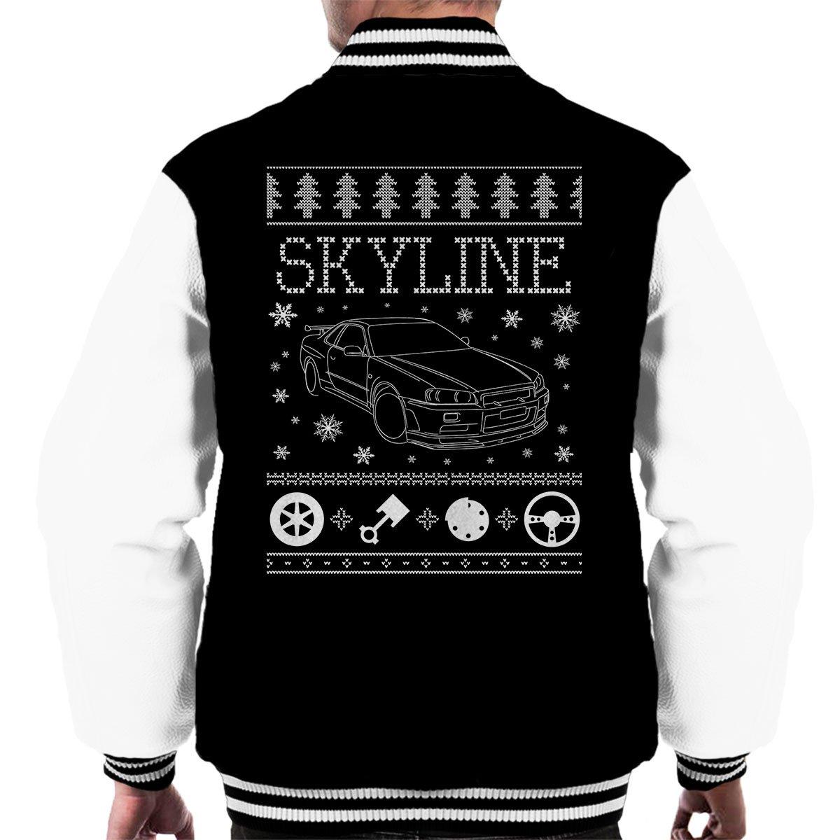 Cloud City 7 Nissan Skyline Christmas Knit Mens Varsity Jacket