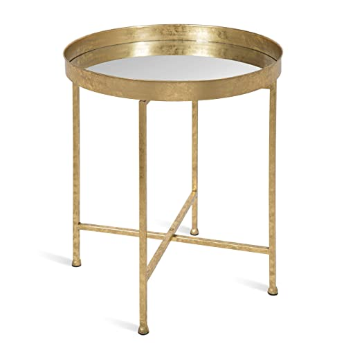 Kate and Laurel 214610 Celia Round Metal Side Table, 18.25×18.25×22, Gold