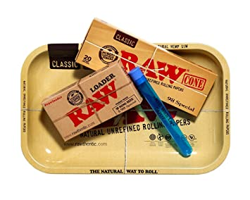 811bdfd8bad61 RAW 98 Special Pre Rolled Cones Supreme Bundle Includes: RAW Rolling Tray,  RAW 98 Special Pre...