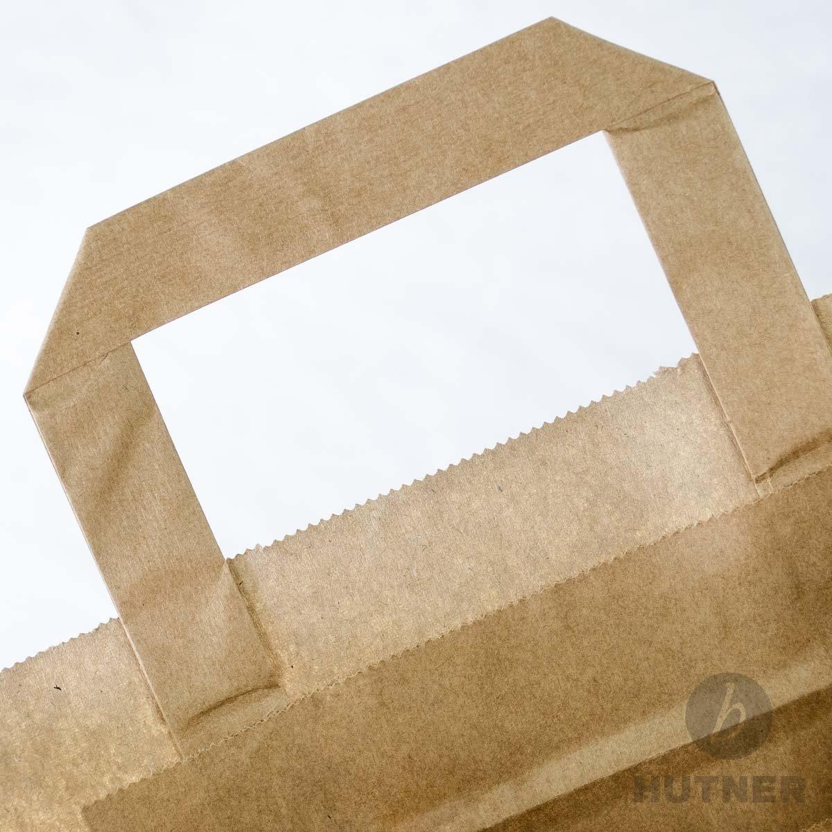 100 x Papiertüten braun 3217x44 cm     stabile Papiertragetaschen   Kraftpapiertüten Flachhenkel   Paper Bag Mittel   Werbetaschen   HUTNER B076KLMT8B   Niedriger Preis und gute Qualität    Verkauf Online-Shop    Elegante und robuste Verpackung 3da283