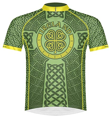 665ab1f76 Primal Wear Ireland Celtic Knot Cycling Jersey Men's Medium Short Sleeve  Irish Green