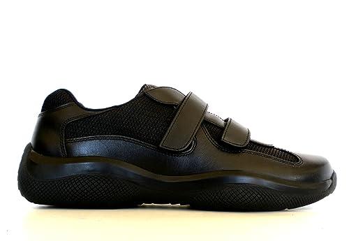 best service 6f3fc b5ae0 Prada Sneakers Scarpe Uomo in Tessuto e Pelle Modello 4P0723 ...