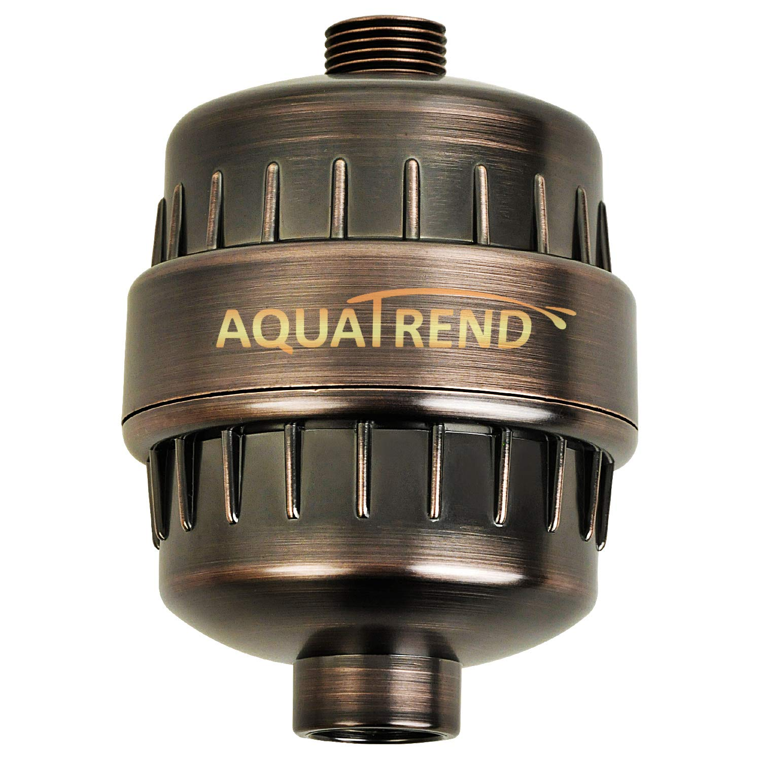 AQUATREND Oil-Rubbed Bronze Universal 15-Stage Shower Filter Shower Head Filter for Hard Water Reduce Chlorine,Dry Itchy Skin,Dandruff, Improve the Condition of Your Skin,Hair and Nails