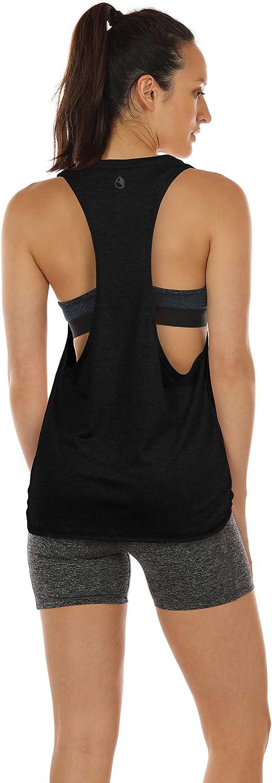 icyzone Sueltas y Ocio Camiseta sin Mangas Camiseta de Fitness Deportiva de Tirantes para Mujer