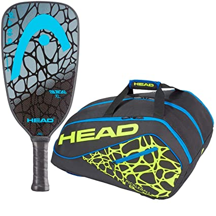 Head Radical XL Blue Graphite Pickleball Paddle Set or Kit Bundled with a Blue/Yellow