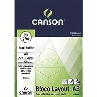 Bloco Técnico A3 90g/m², Canson, 66667034, Layout, 50 Folhas
