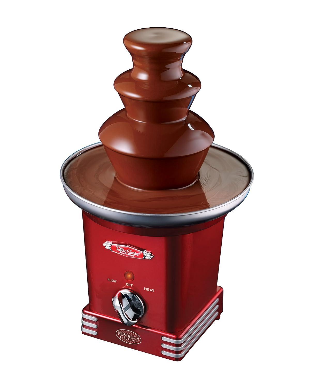 Amazon.com: Nostalgia RFF600RETRORED Retro Series 3-Tier Chocolate ...