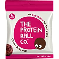 The Protein Ball Co Egg White Protein Balls, Cherry Bakewell, 45 g