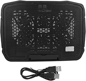 ASHATA Laptop Cooling Pad, Computer Radiator H9 Notebook Cooler Heat Dissipation Computer Base with 2400 RPM Copper Coil Motor