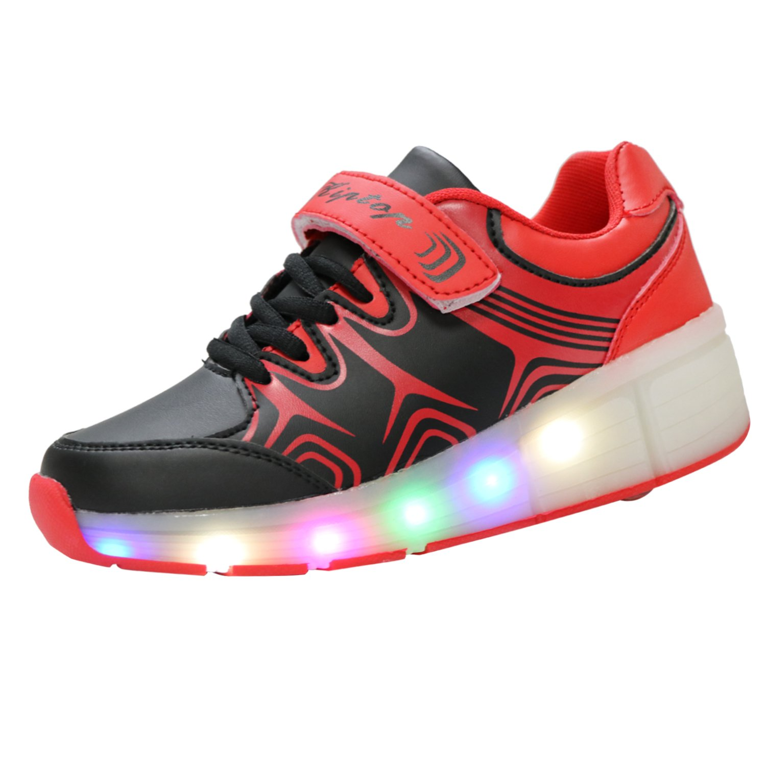 Buy roller shoes online australia - Kiptop Kids Led Flashing Lights Sneakers Roller Shoes Trainers For Boys Girls Without Usb