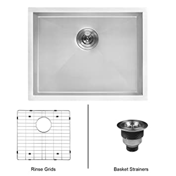 Ruvati RVU6100 Undermount Laundry Utility Sink 23u0026quot; X 18u0026quot; X  12u0026quot; ...