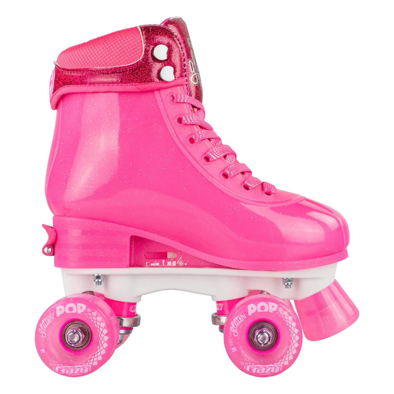 Crazy Skates Glitter POP Adjustable Roller Skates for Girls and Boys   Size Adjustable Quad Skates That Fit 4 Shoe Sizes   Pink (Sizes 3-6) by Crazy Skates (Image #8)