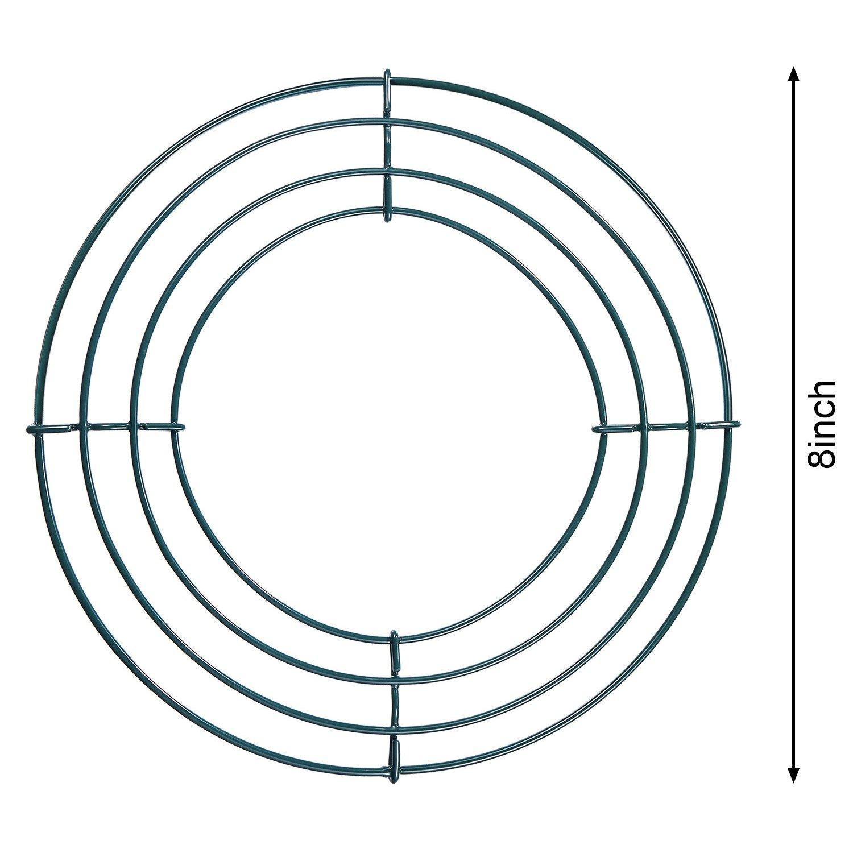 Amazon.de: 3 Packung Draht Kranz Ringe Draht Kranz Rahmen für ...