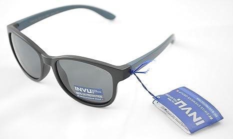 INVU Gafas de sol polarizadas Bimbo K 2511 A Negro Extensible Lentes 100% UV Block