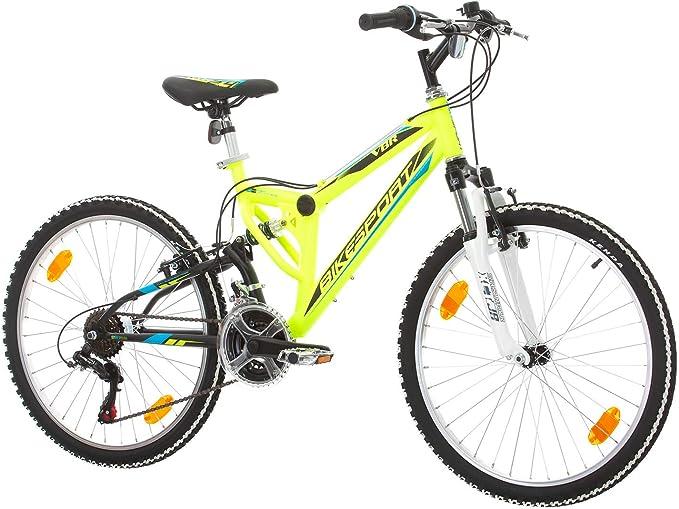 Bikesport Parallax Bicicleta De montaña Doble suspensión 24 Ruedas ...