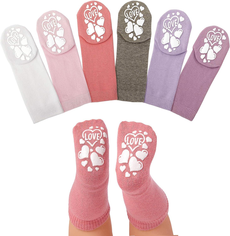 Anole Newborn & Infant Baby Socks - 6 Pairs - Knee High Boys Girls Cotton