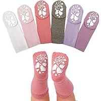 Anole Calcetines para Recién Nacido y Bebé - 6 Pares - Alto de Rodilla de Algodón para Niños y Niñas