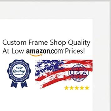 Amazon.com - 30x30 Contemporary White Wood Picture Square Frame - UV ...