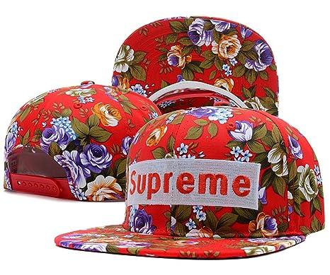 4746faff892 Sandility-SD Unisex Adjustable Cool Baseball Hat Supreme Courtside Snapback  Dual Colour Cap Thirteen  Amazon.co.uk  Clothing