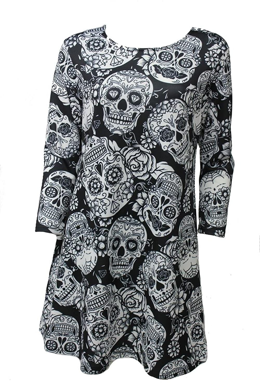 Girl Talk Clothing Womens Plus Size Sugar Skull Halloween