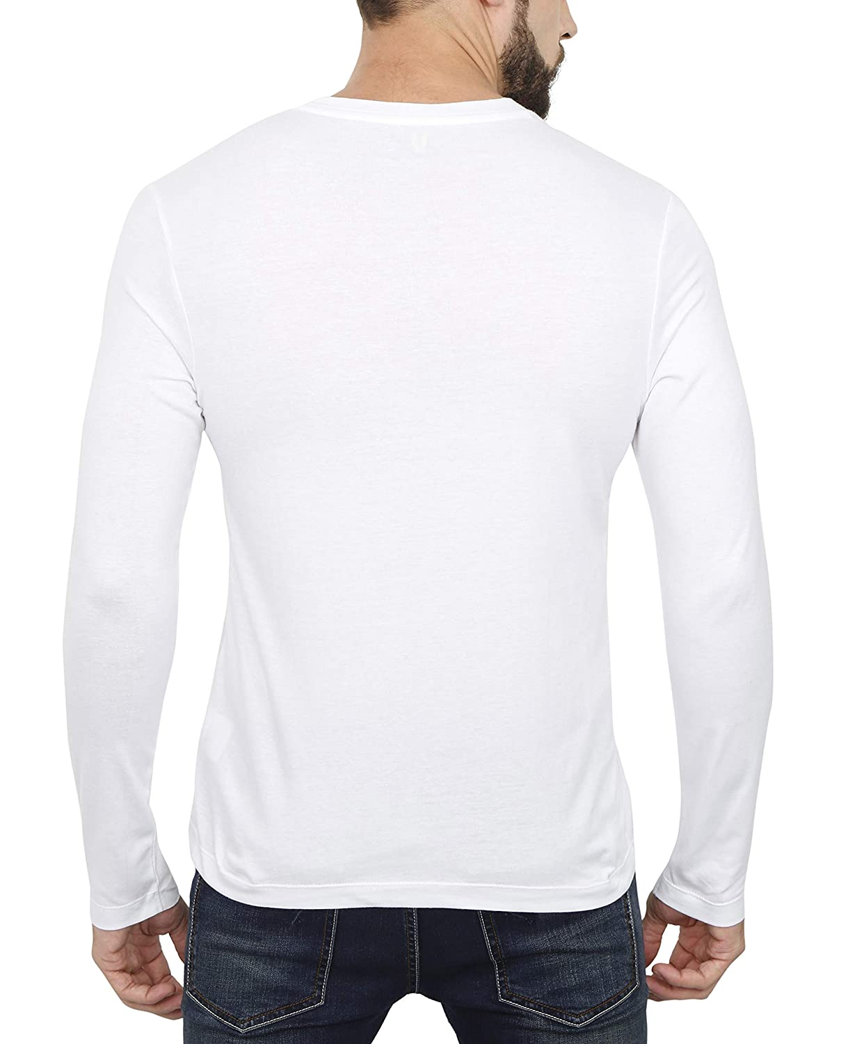 8dddbbe0 Urba Classics Men's Cotton Henley Neck Full Sleeves Plain T Shirts:  Amazon.in: Clothing & Accessories