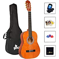 Winzz Guitarra Clásica Cuerda de Nylon 3/4 Tamaño 36'' Kit de Inicio para Estudiantes Principiantes con Bolsa, Afinador…