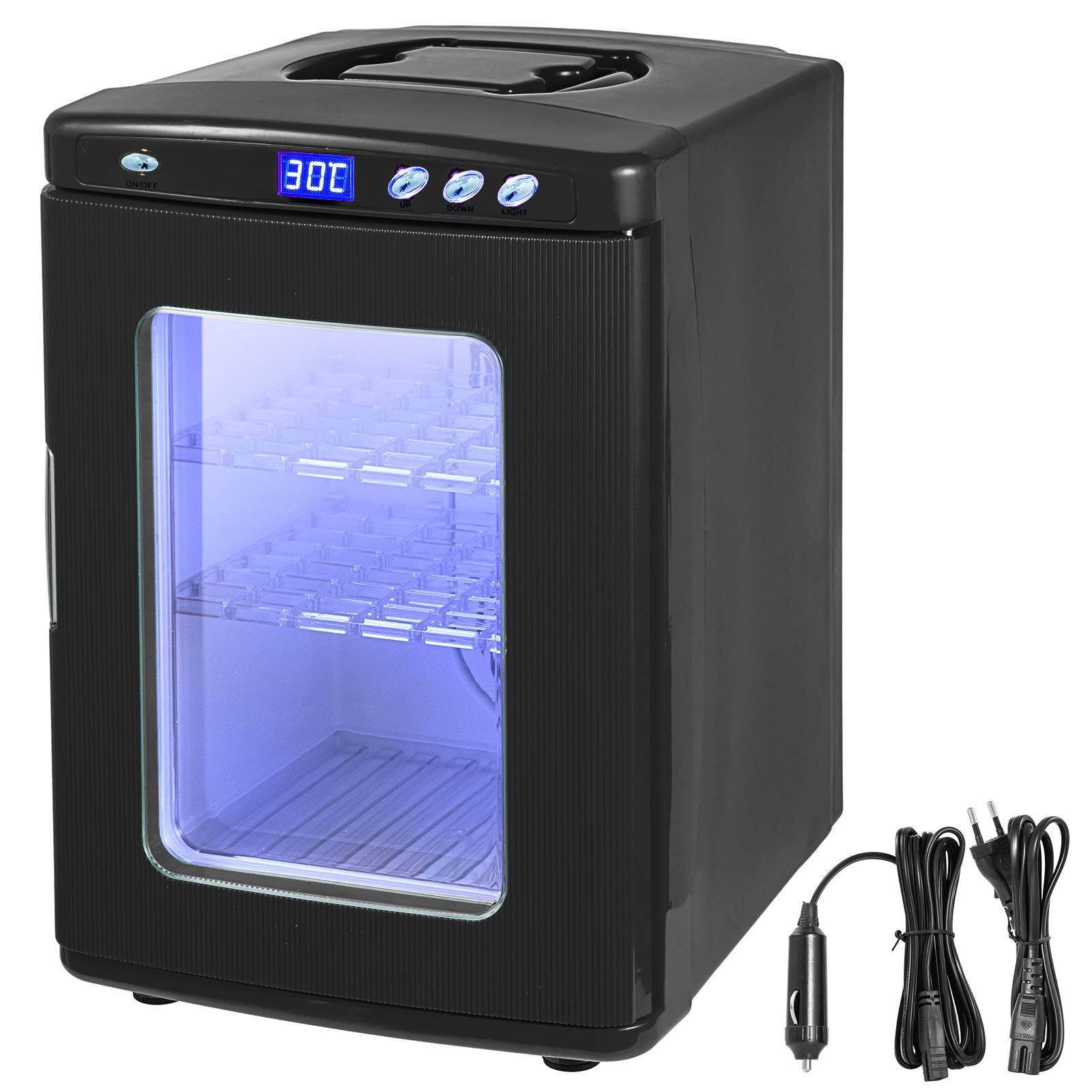Happybuy 25L Reptile Incubator Scientific Lab Incubator Cooling and Heating 2-60°C 12V/110V Work for Small Reptiles