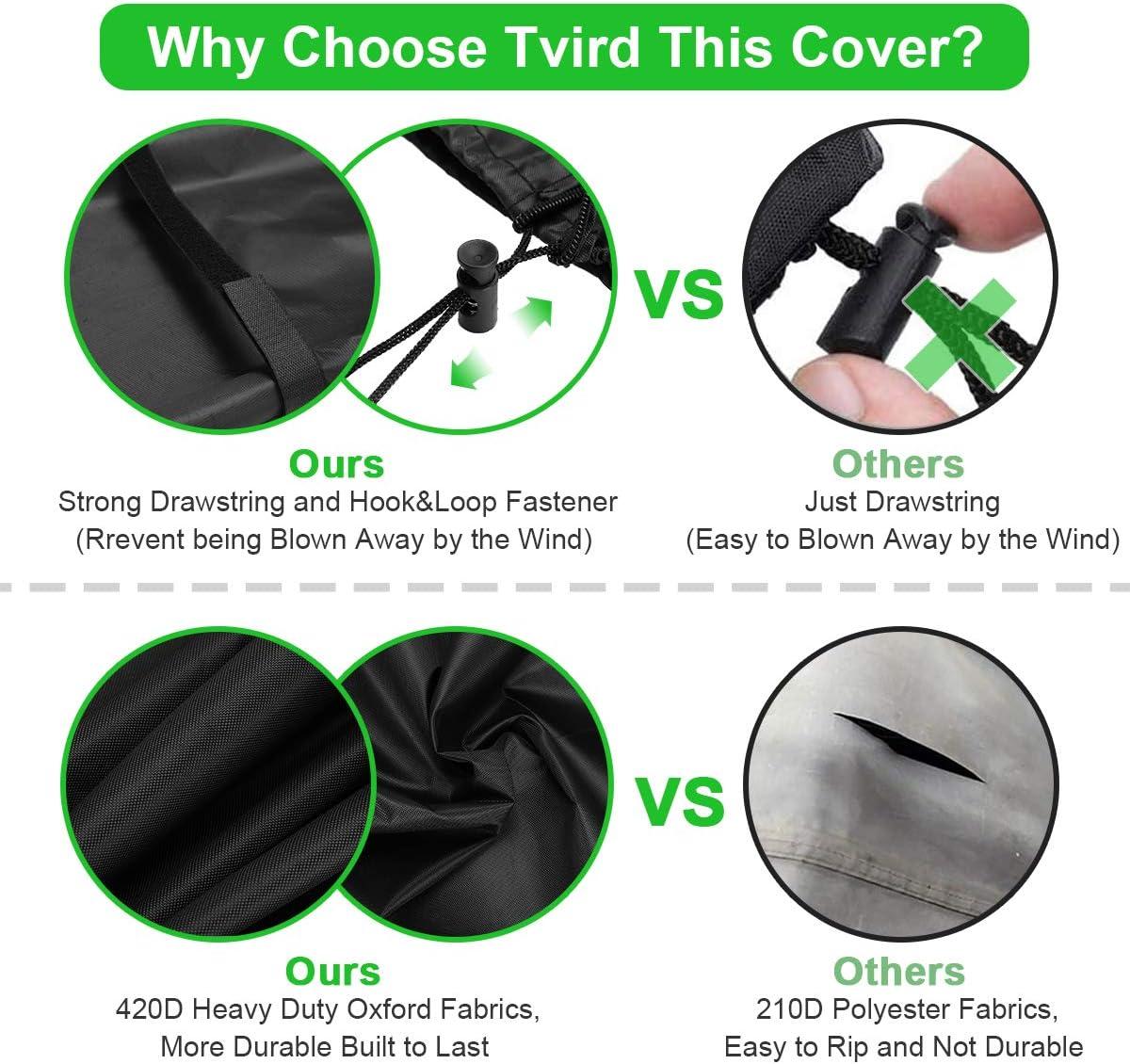 Tvird Copriombrellone Copertura per Ombrellone Impermeabile Resistente Strappo Telo 420D Oxford