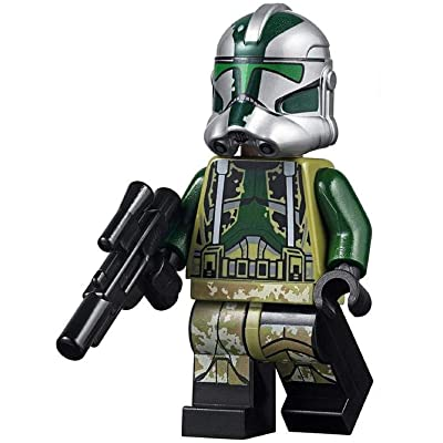 LEGO Star Wars MiniFigure - Clone Commander Gree (with Blaster) 75234: Toys & Games [5Bkhe0506168]