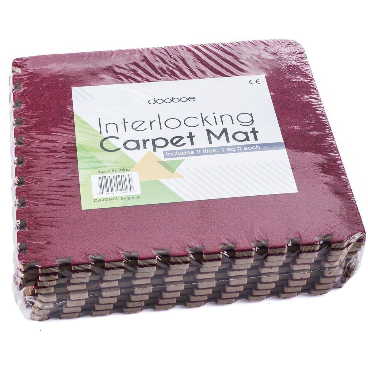 Gray Anti-Fatigue Carpet Interlocking Floor Tiles Non-Toxic Premium Puzzle Floor Mat with Borders Interlocking Carpet Tiles Carpet Foam Tiles Dooboe Interlocking Foam Mats