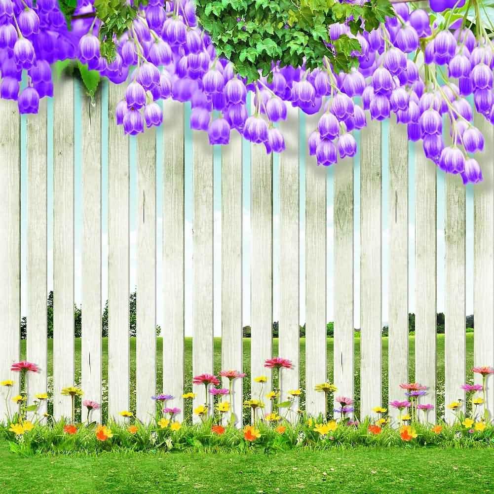 GladsBuy Tidyと美しい庭10 ' x 10 'デジタル印刷写真バックドロップ背景フェンスと柱テーマyha-043   B016BWDGBU