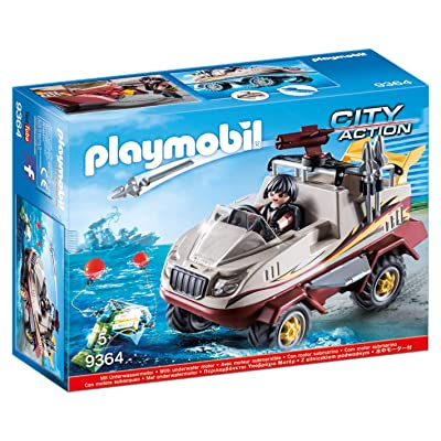 PLAYMOBIL Amphibious Truck: Toys & Games