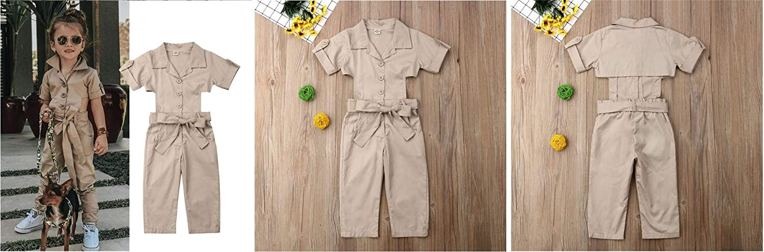 Mama Loves Outfits for Toddler Girls England Style Show Waist Toddler Girls Rompers and Jumpsuits