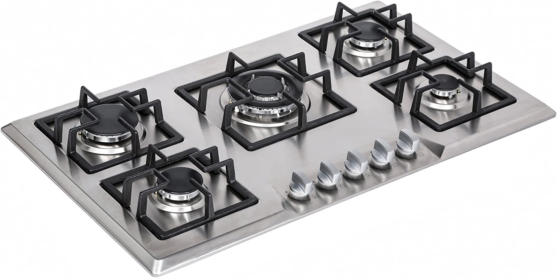 Amazon.com: Empava - Anafe para estufa de acero inoxidable ...