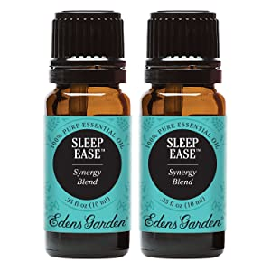 Edens Garden Sleep Ease Essential Oil Synergy Blend, 100% Pure Therapeutic Grade (Sleep & Skin Care) 10 ml Value Pack