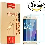 """2 Pack Zenfone 3 Max Protector de Pantalla Vidrio Templado , Leathlux Cristal Templado Protector Superior de Película para Asus Zenfone 3 Max ZC520TL 5.2"""""""