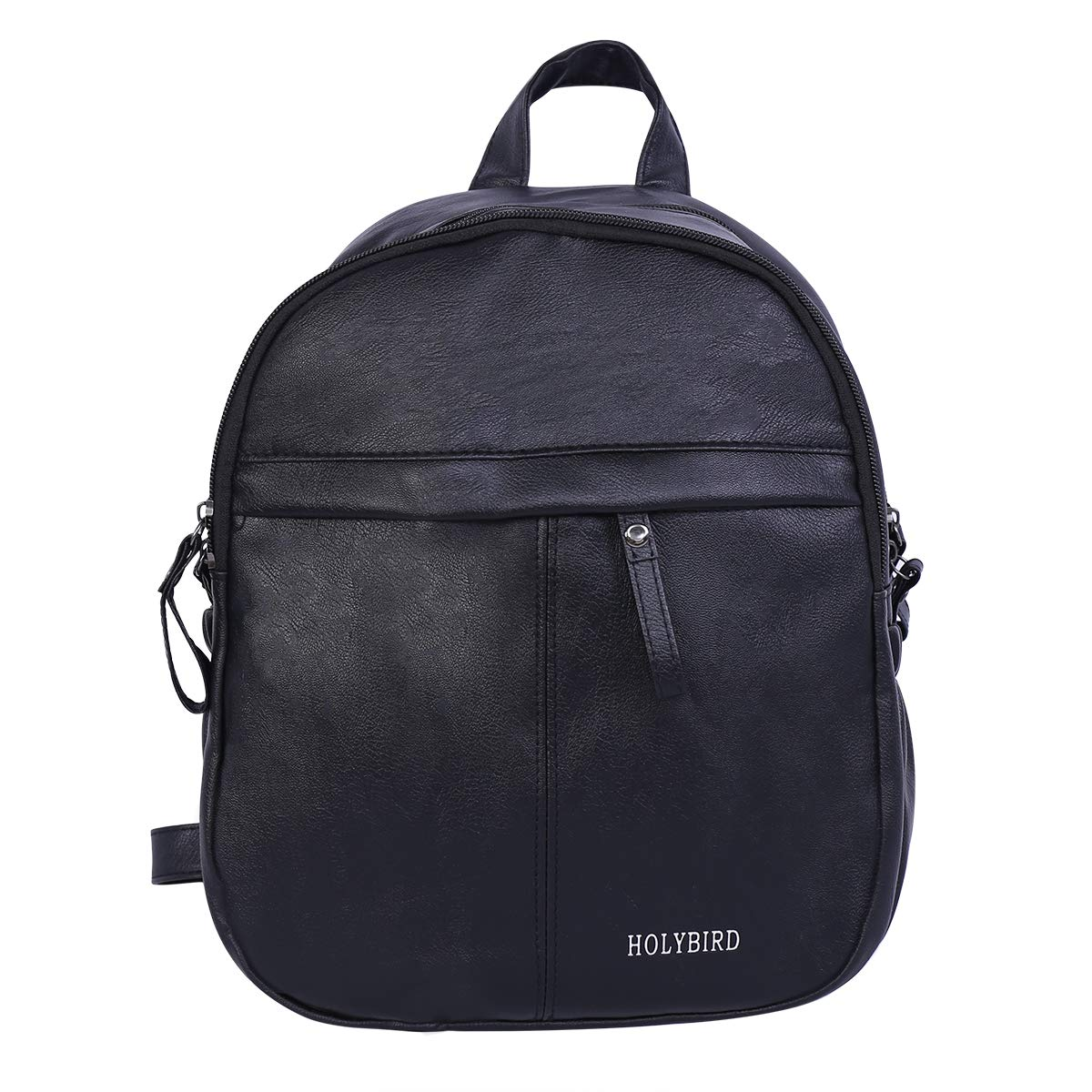 Black1 HOLYBIRD Waterproof Backpack PU Leather Mini Women Purse for School Shopping Dating