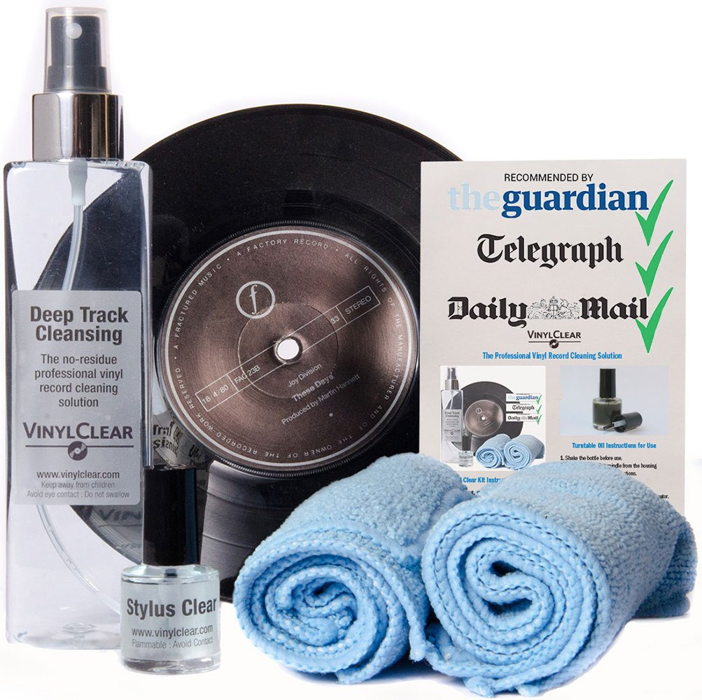 Kit detergente Advanced Vinyl Record Cleaning scelto dagli audiofili Vinylclear VC-250KIT-A-2