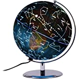 ZUEDA 3-in-1 Illuminated Constellation Globe, LED Lighted Interactive World Globe Map & Nightlight with Non-tip Metal Stand, Geographic Exploration Earth Globe for Kids Children