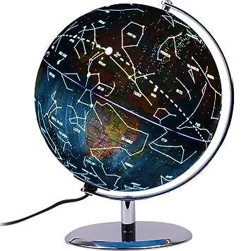 Amazon zueda 3 in 1 illuminated constellation globe led zueda 3 in 1 illuminated constellation globe led lighted interactive world globe map gumiabroncs Images