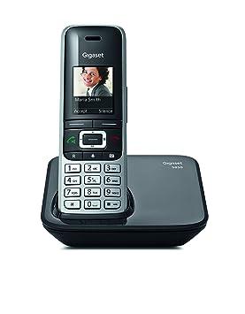 Gigaset S850; teléfono inalámbrico con Manos Libres; conexión Bluetooth; Pantalla en Color; Agenda de 500 contactos; conexión Auriculares; protección ...