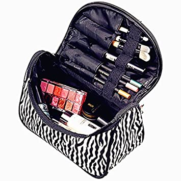Amazon.com: VI. Yo 1 pieza Moda cosméticos bolsa cebra las ...