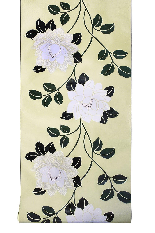 花の壁紙 黒 はがせる 家の装飾 花柄壁紙 イエロー 45cmx6m 白 付き Haokhome H1294 3d 屋本舗 簡単 Exuconsulting Ch