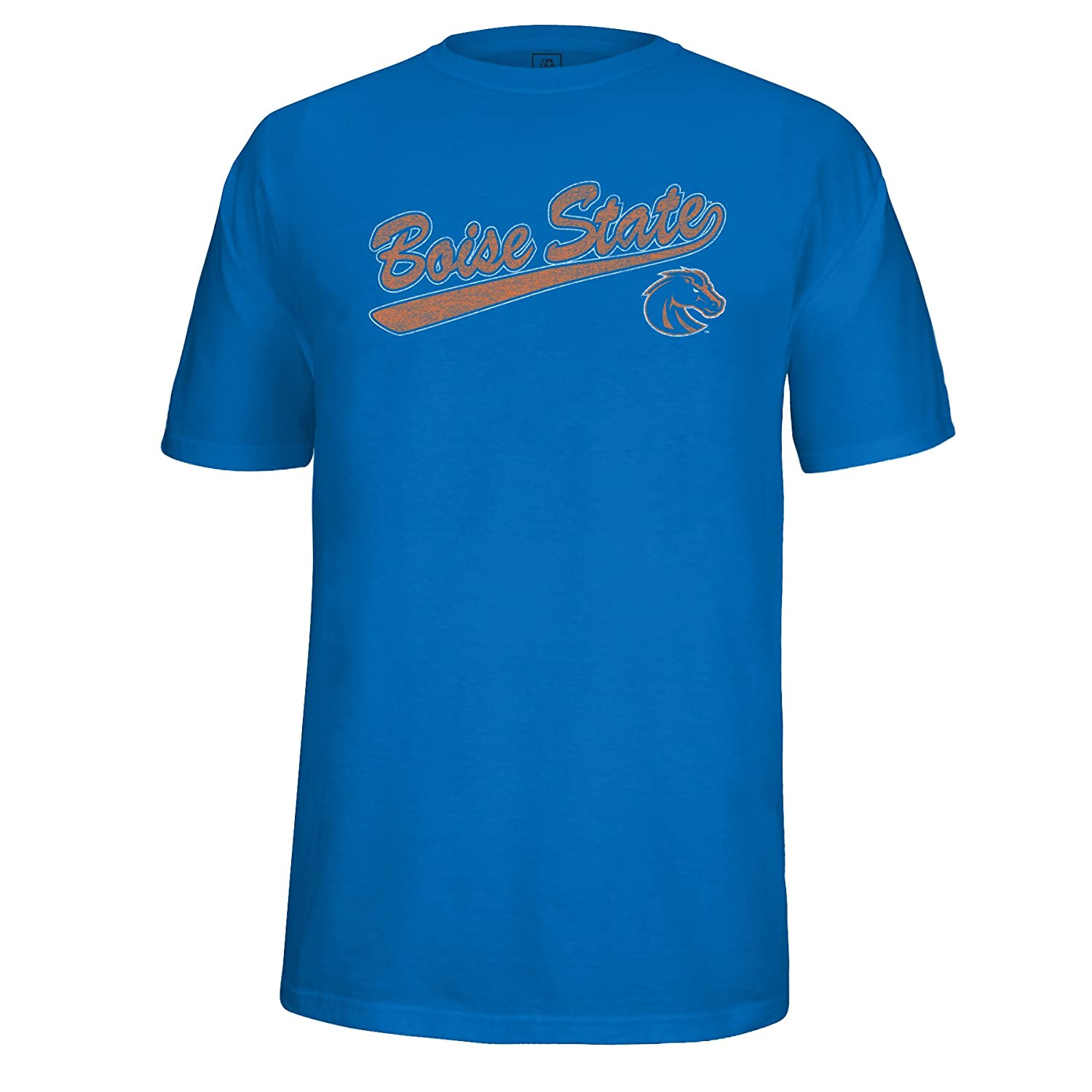 NCAA Boise State Broncos Mens School Name Script Tail Logo Choice Tee XX-Large Royal