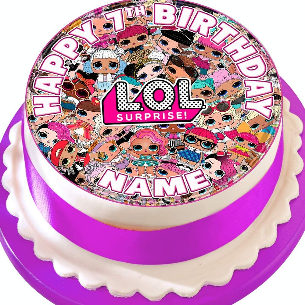 Edible Icing personalised 7.5 inches Cake topper