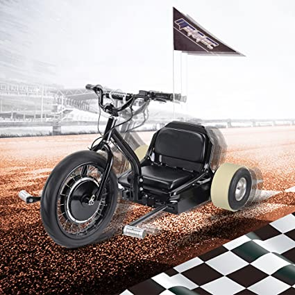 SAY YEAH Electric Bike Brushless Hub Motor Scooter,Sit/Stand Tricycle,  Adult Mobility Scooters, LED Light, 250lbs Max Weight Capacity